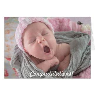 Glückwünsche auf neuer Baby-Karte Karte