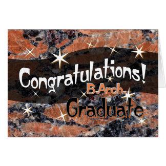 Glückwünsche B. Arch. Graduiertes Orange und Karte