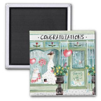 Glückwünsche, die   Magneten wedding sind Quadratischer Magnet