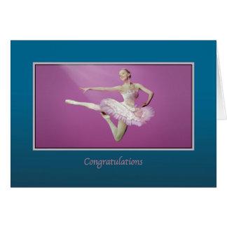 Glückwünsche, Erwägungsgrund, Ballerina springend Karte