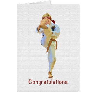 Glückwünsche, Karate, das Brown-Gurt-Karte tritt Karte