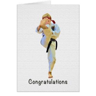 Glückwünsche, Karate, das Gürtel-Karte tritt Karte
