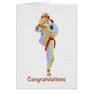 Glückwünsche, Karate, das rote Gurt-Karte tritt Karte