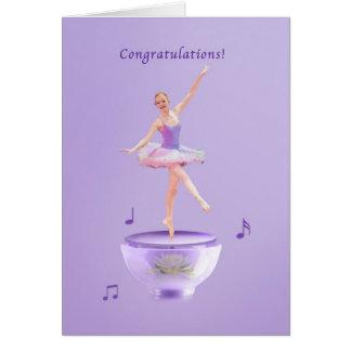Glückwünsche, Leistung, Spieluhr-Ballerina Karte