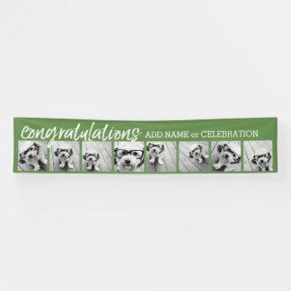 Glückwünsche mit 8 Foto-Collagen-Gewohnheits-Text Banner