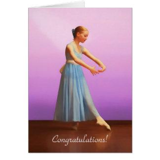 Glückwünsche, Tanz-Erwägungsgrund, Ballerina im Karte