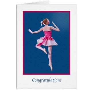 Glückwünsche, Tanz-Erwägungsgrund, Ballerina Karte