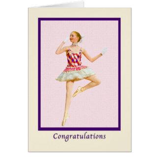 Glückwünsche, Tanz-Erwägungsgrund Karte