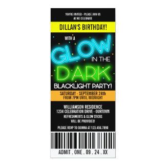 Glühen im dunklen Geburtstags-Party 10,2 X 23,5 Cm Einladungskarte