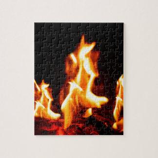 Glühende Flammen Puzzle