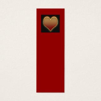 Glühende Herz-Visitenkarte/Lesezeichen Mini Visitenkarte