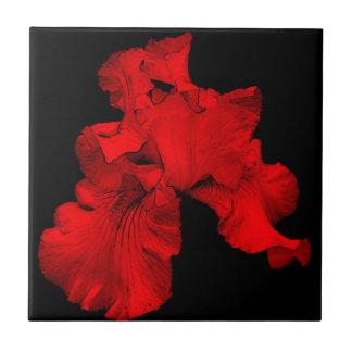 Glühende Iris-Blumenkunst-Fliese Keramikfliese