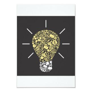 Glühlampen-Ideen-Einladungen 8,9 X 12,7 Cm Einladungskarte