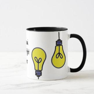 Glühlampen-Ideen-Entwurf Tasse