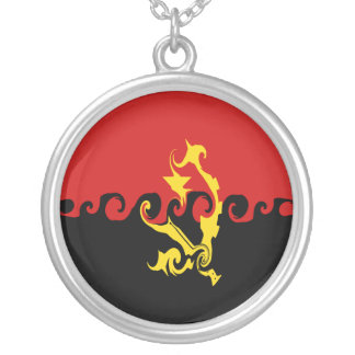 Gnarly Flagge Angolas Halskette