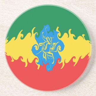 Gnarly Flagge Äthiopiens Bierdeckel