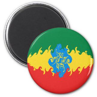 Gnarly Flagge Äthiopiens Kühlschrankmagnete
