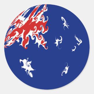 Gnarly Flagge Australiens Sticker