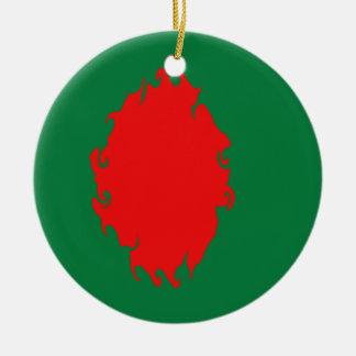 Gnarly Flagge Bangladeschs Weihnachtsornament