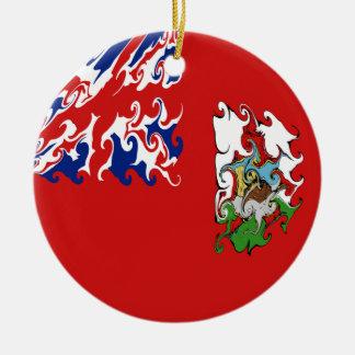 Gnarly Flagge Bermudas Rundes Keramik Ornament