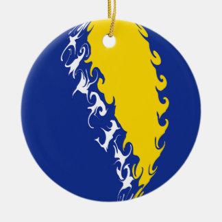Gnarly Flagge Bosniens-Herzegowina Weihnachtsbaum Ornamente