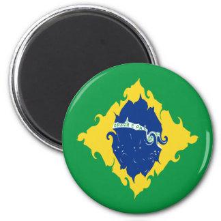 Gnarly Flagge Brasiliens Kühlschrankmagnete