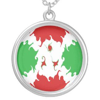 Gnarly Flagge Burundis Halskette Mit Rundem Anhänger