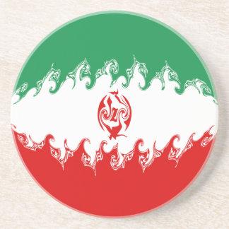 Gnarly Flagge des Irans Getränke Untersetzer