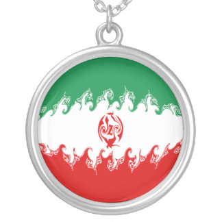 Gnarly Flagge des Irans Personalisierte Halskette