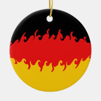 Gnarly Flagge Deutschlands Rundes Keramik Ornament