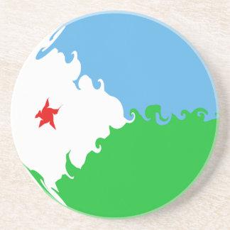Gnarly Flagge Dschibutis Getränkeuntersetzer