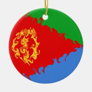 Gnarly Flagge Eritreas Rundes Keramik Ornament