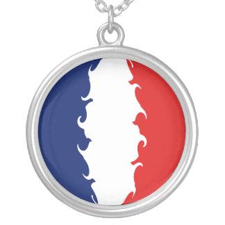 Gnarly Flagge Frankreichs Selbst Gestaltete Halskette
