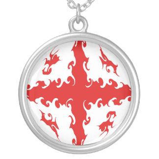 Gnarly Flagge Georgia Personalisierte Halskette