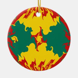 Gnarly Flagge Grenadas Rundes Keramik Ornament
