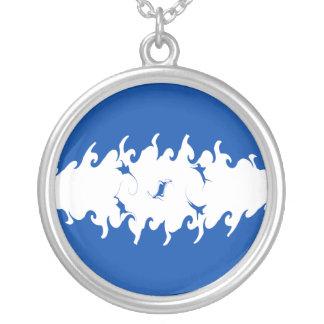 Gnarly Flagge Hondurass Halskette Mit Rundem Anhänger
