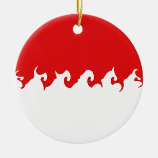 Gnarly Flagge Indonesiens Weihnachtsbaum Ornamente