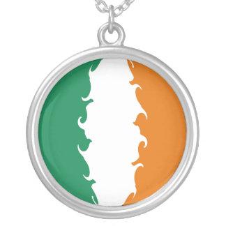 Gnarly Flagge Irlands Halskette Mit Rundem Anhänger