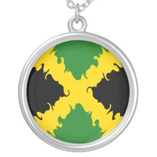 Gnarly Flagge Jamaikas Halskette Mit Rundem Anhänger