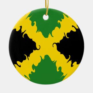Gnarly Flagge Jamaikas Rundes Keramik Ornament
