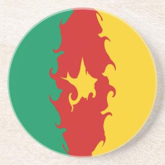 Gnarly Flagge Kameruns Getränkeuntersetzer