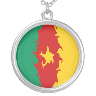 Gnarly Flagge Kameruns Halskette Mit Rundem Anhänger