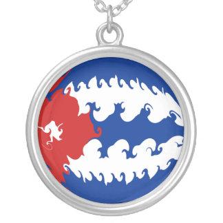 Gnarly Flagge Kubas Halskette Mit Rundem Anhänger
