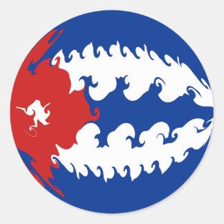 Gnarly Flagge Kubas Stickers