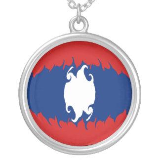 Gnarly Flagge Laos Personalisierte Halskette