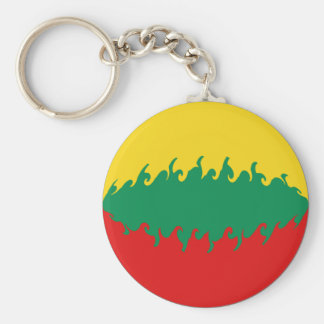 Gnarly Flagge Litauens Schlüsselanhänger