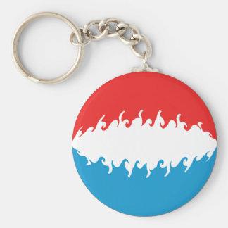 Gnarly Flagge Luxemburgs Schlüsselanhänger