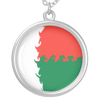 Gnarly Flagge Madagaskars Halskette Mit Rundem Anhänger