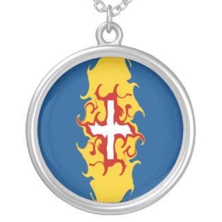 Gnarly Flagge Madeiras Halskette Mit Rundem Anhänger