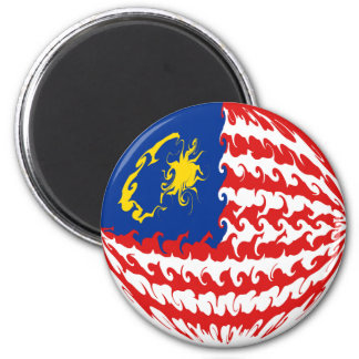 Gnarly Flagge Malaysias Runder Magnet 5,7 Cm